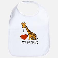 I Love My Daddies Giraffe Bib