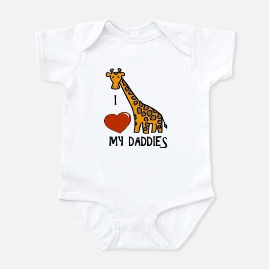 I Love My Daddies Giraffe Infant Bodysuit