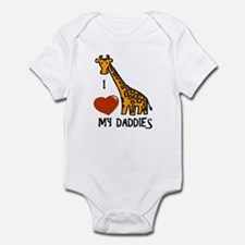 I Love My Daddies Giraffe Onesie