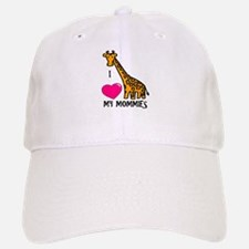 I Love My Mommies Giraffe Baseball Baseball Cap
