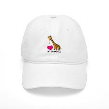 I Love My Mommies Giraffe Baseball Cap