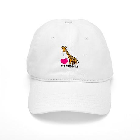 I Love My Mommies Giraffe Cap