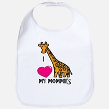 I Love My Mommies Giraffe Bib