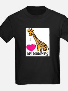 I Love My Mommies Giraffe T