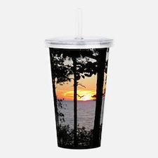 Lake Superior Sunset Acrylic Double-wall Tumbler