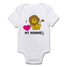 I Love My Mommies Lion Infant Bodysuit