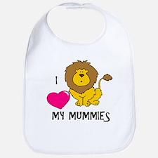 I Love My Mummies Lion Bib