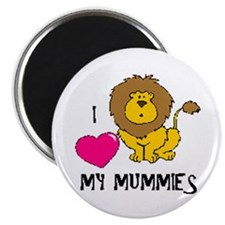 "I Love My Mummies Lion 2.25"" Magnet (100 pack)"