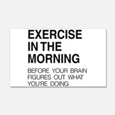 Exercise in the morning Wall Decal