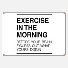 Exercise in the morning Banner