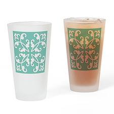 Lacy cutwork - seafoam green Drinking Glass