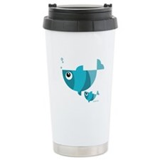 Blue fishes (2) Travel Mug