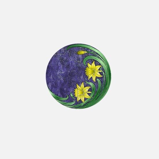 Daffodil Nouveau Mini Button