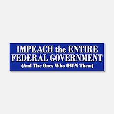 Impeach Gov & Banksters Car Magnet 10 X 3