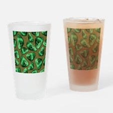 Green Piece Drinking Glass