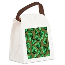 Green Piece Canvas Lunch Bag