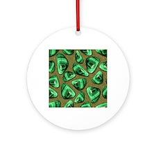 Green Piece Round Ornament