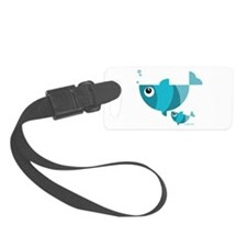 Blue fishes (2) Luggage Tag