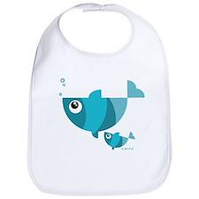 Blue fishes (2) Bib