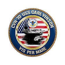 "CVN-70 USS Carl Vinson 3.5"" Button (100 pack)"