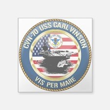 "CVN-70 USS Carl Vinson Square Sticker 3"" x 3"""