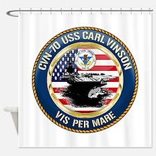 CVN-70 USS Carl Vinson Shower Curtain