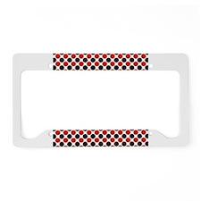 Red Black Cards License Plate Holder