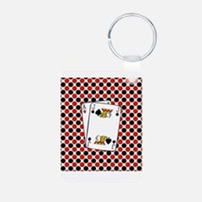Red Black Cards Keychains