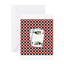 Red Black Cards Greeting Cards