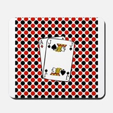 Red Black Cards Mousepad