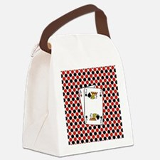 Red Black Cards Canvas Lunch Bag