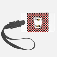 Red Black Cards Luggage Tag