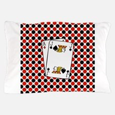 Red Black Cards Pillow Case