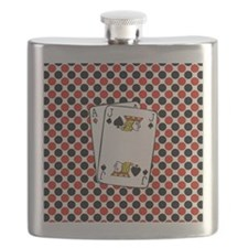 Red Black Cards Flask