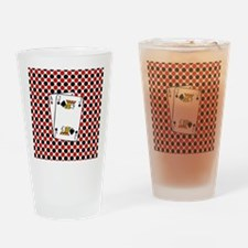 Red Black Cards Drinking Glass