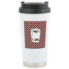 Red Black Cards Travel Mug