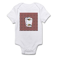 Red Black Cards Body Suit