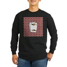 Red Black Cards Long Sleeve T-Shirt