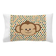Monkey on Polka Dots Pillow Case