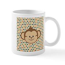 Monkey on Polka Dots Mugs
