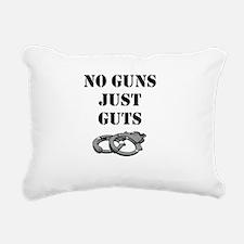 NO GUNS JUST GUTS Rectangular Canvas Pillow