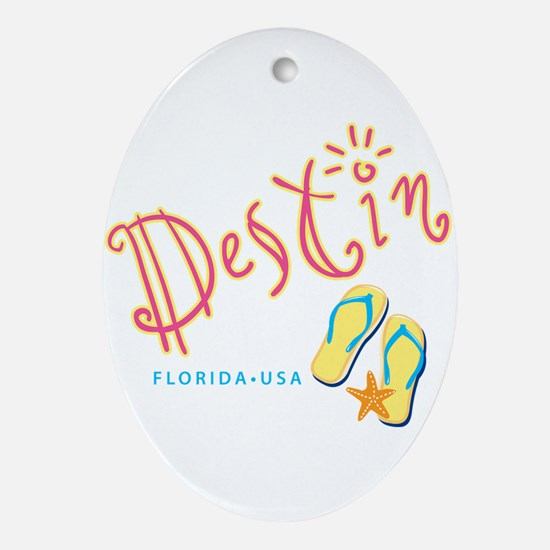 Destin - Ornament (Oval)