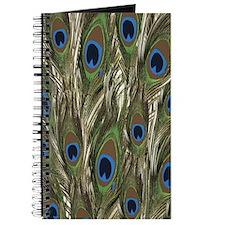 Sage Green Peacock pattern Journal