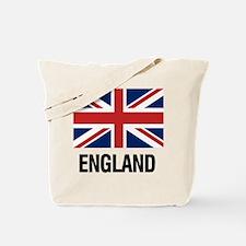 Funny England flag Tote Bag