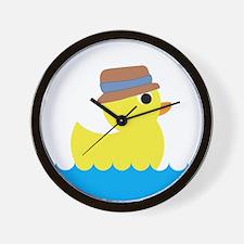 Duck in Water Wall Clock