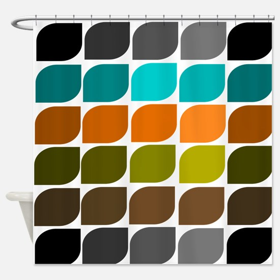 Mid-Century Modern Shower Curtain