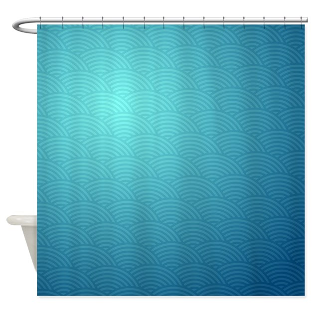 blue ombre shower curtain by laughoutlouddesigns1