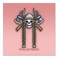 "Valkyrie Square Car Magnet 3"" x 3"""