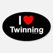 Twinning Sticker (Oval)