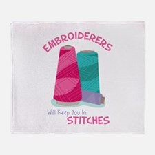 Embroiderers Throw Blanket